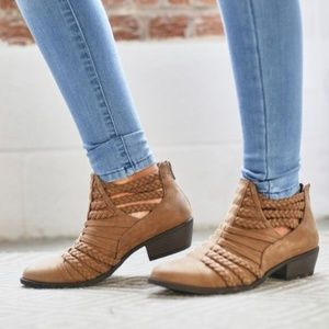 Altar'd State Chelsea Braided Brown Booties